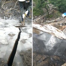 瀍河劈裂机静态裂石设备劈石多少方图片