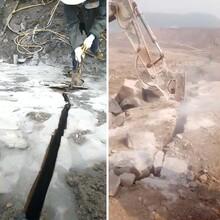 巩义硬石头开挖岩石劈裂机劈裂设备产量多少图片