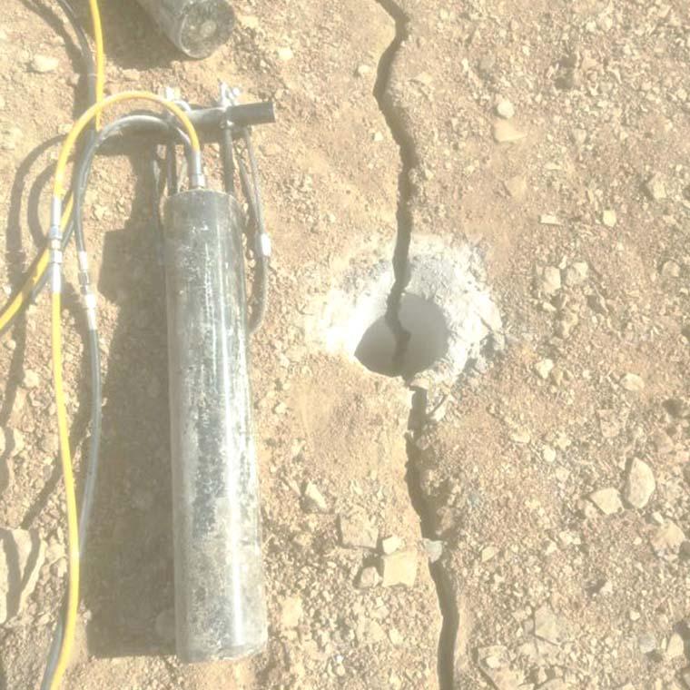 开封矿山开采不能放炮就用液压劈裂棒