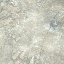 连云区矿山开采不能放炮就用液压劈裂棒图片