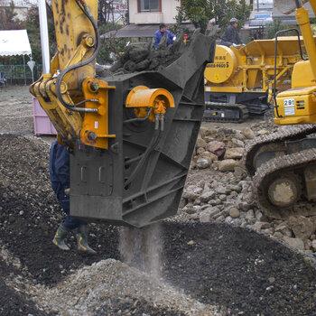 破碎斗工作原理碎石器破碎机优势碎石器