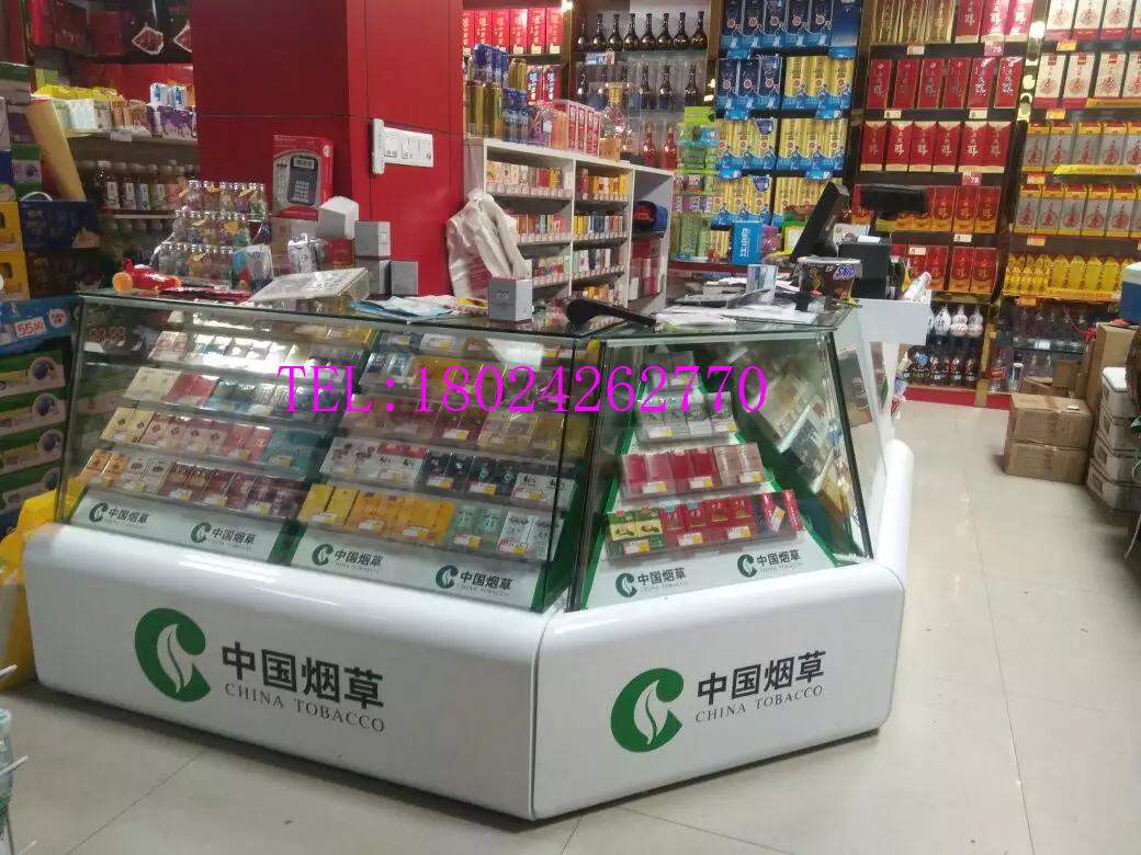 贵州遵义钢化玻璃推拉式烟柜设计制作