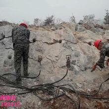井下石灰石静态爆破岩石破石棒多少钱一台图片