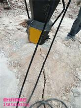 场地平整石头静态爆破液压开石器产量多少图片