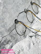 挖矿洞破开石灰岩岩石劈裂机价格图片