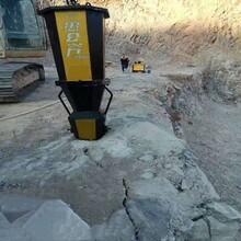 静态破膨胀机水库硬石头开挖哪种方式开采石头产量高图片