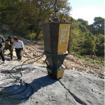 湖北黃岡黃石露天開采巖石設備怎么快速破除巖石巖石裂劈棒