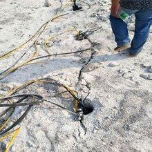 青石劈裂机作业视频河南安阳18匹液压系统