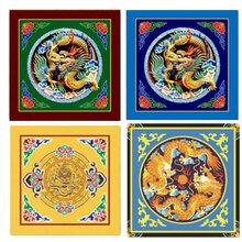 古建吊顶寺庙佛堂中式彩绘浮雕吊顶楚匠坊古建室内吊顶设计图片