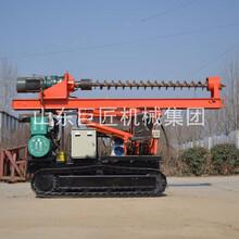 巨匠集團供應輪式長螺旋打樁機可自行走螺旋式打土鉆機圖片