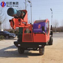 輪式長螺旋打樁機打樁設備行動方便操作方便華夏巨匠圖片