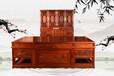 哈爾濱緬甸花梨辦公桌王義老師作品,濟寧紅木家具