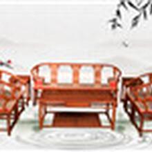 王义红木大果紫檀沙发,临沂鲁班工艺缅甸花梨沙发设计合理图片
