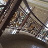 专业中式做旧红古铜铝艺雕花楼梯雕刻铝板楼梯护栏订做