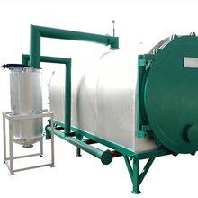 日產2噸氣流式臥式炭化爐節能環保無煙雜木炭化爐型號齊全圖片