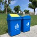 现货批发分类垃圾桶20l农村街道办公塑料户外带盖摇盖垃圾桶定制