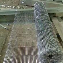 厂家直销网格方眼网带不锈钢输送网带清洗网带人字折边网带图片