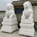 石獅子定制漢白玉大象貔貅麒麟動物雕塑鎮宅門口風水擺件