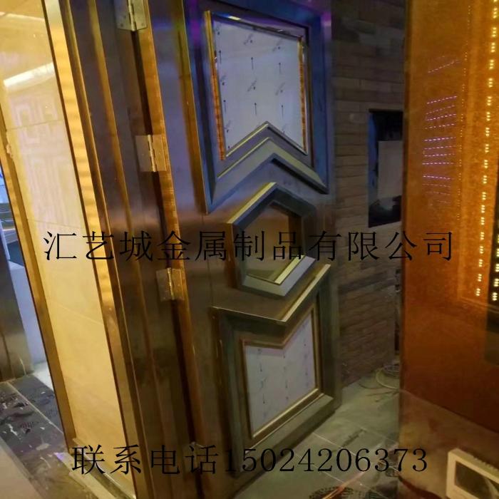 阳山酒店专用不锈钢屏风金属制品加工汇艺诚金属