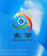 浙江工厂现货供应500D黑色箱包用PVC夹网布篷盖布图片