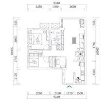 文水山西拜尔建筑装饰76平米两居室小户型全包无醛整体家装