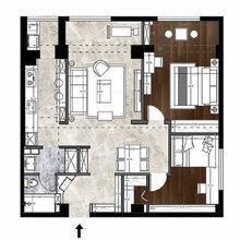 万柏林区山西拜尔建筑装饰70平米两室两厅一卫简约风全包无醛整体家装