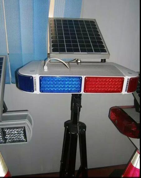 太阳能爆闪灯/红蓝短排