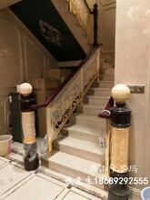 安徽創意浮雕花格鋁板雕刻護欄中式別墅樓梯設計圖片