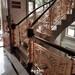 豪華大別墅安裝的銅樓梯雕花扶手裝飾效果