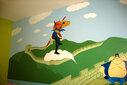 长期承接北京幼儿园文化墙彩绘设计制作图片