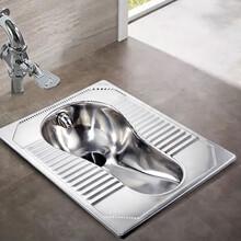 公共廁所用不銹鋼蹲便器304材質蹲便器批發廠家圖片