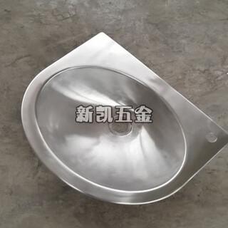 玉门市新凯不锈钢洗手盆圆形不锈钢台下盆图片5