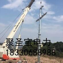 天柱县10kv电力钢管塔35kv电力钢管杆图片
