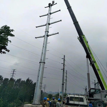 新疆35kv電力鋼管塔10kv電力鋼管桿