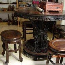 杨浦区红木家具回收上海回收大红酸枝木圆台子图片