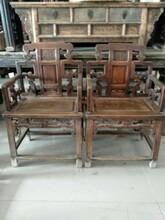 上海老红木太师椅回收就解放前榉木椅子回收图片