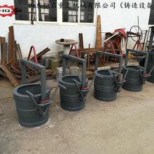 山东恒启铸造设备浇铸包750kg钢水包3T球墨铸铁茶壶铁水包图片