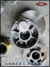 砖窑工厂烤漆烘干室踏面直径180轮缘220实心焙烧窑窑车轮图片