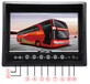 厂家热卖9寸车载显示器24v车用安防监控小电视1024600屏2航空