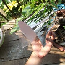 塑料彎曲pvc鏡片pvc魔鏡薄鏡片pvc板材圖片