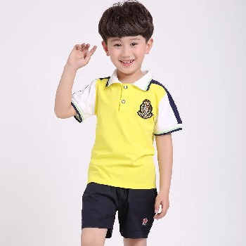 夏装幼儿园园服学生短袖套装校服学院风校服服装