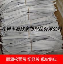 防护面罩专用松紧带厂商供应勾边松紧带防护服橡筋松紧带现货图片