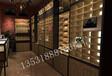 上海地區眼鏡柜臺展柜多格子陳列柜玻璃中島柜臺定制黃埔店鋪設計圖