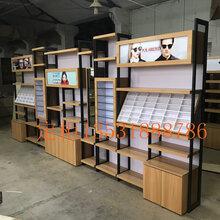 定制嘉兴眼镜柜铁木结合定做厂家直销南湖区眼镜柜台图片