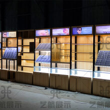 惠州快时尚太阳眼镜展示柜报价博罗钢木结合眼镜中岛柜台报价图片