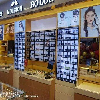 茂名大众眼镜连锁店展示柜电白区精品眼镜陈列架采购价格