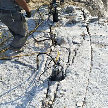 礦山不能爆破怎么快速開裂巖石液壓巖石破裂棒
