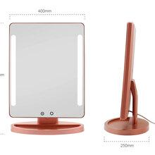 网易严选智能LED灯充电便携化妆镜带灯台式桌面梳妆镜网红镜子女