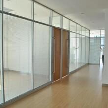 杭州玻璃隔断安装图片