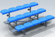 普通型足球替補席替補席廠家替補席供應商深圳足球替補席